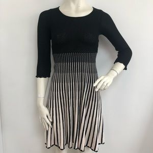 French Connection cotton knit fit and flare dress